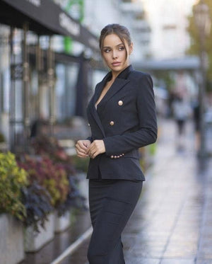 Black Blazer Suit