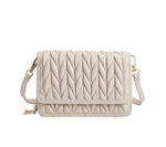 Giselle Quilted Crossbody in Bone