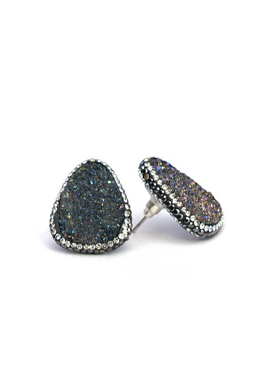 Drury Black Earrings