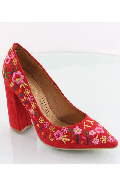 Red Embroidery Shoe
