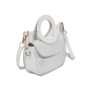 Clarissa White Top Handle Bag