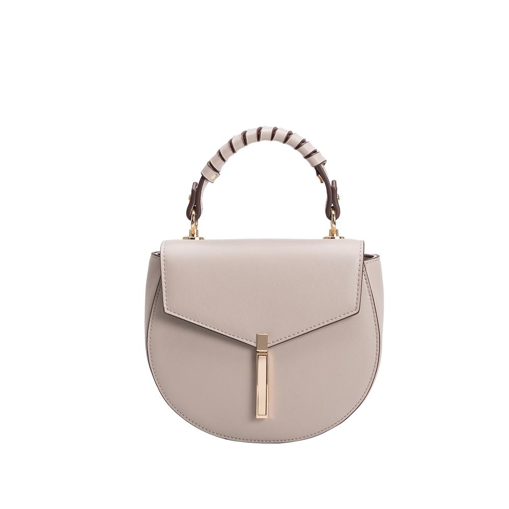 Mandy Taupe Vegan Crossbody Bag