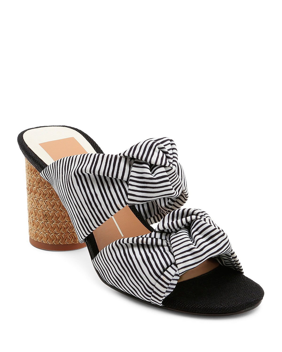 Jene Knotted Block Heel Slide Sandals