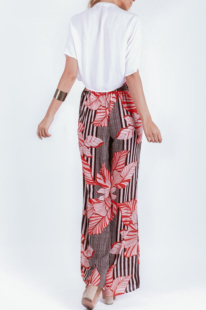 Sydney Pant in Red Hibiscus
