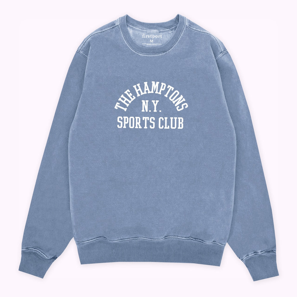 The Hamptons SC Crewneck - Washed Blue