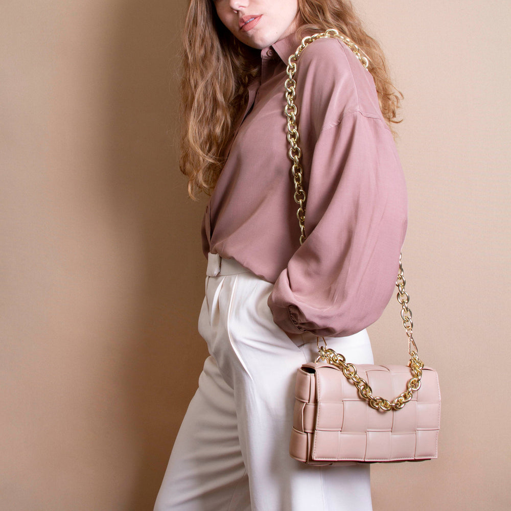 Anya Vegan Shoulder Bag in Nude