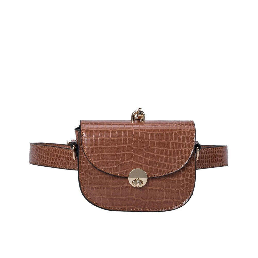 Keaton Vegan Belt Bag in Saddle