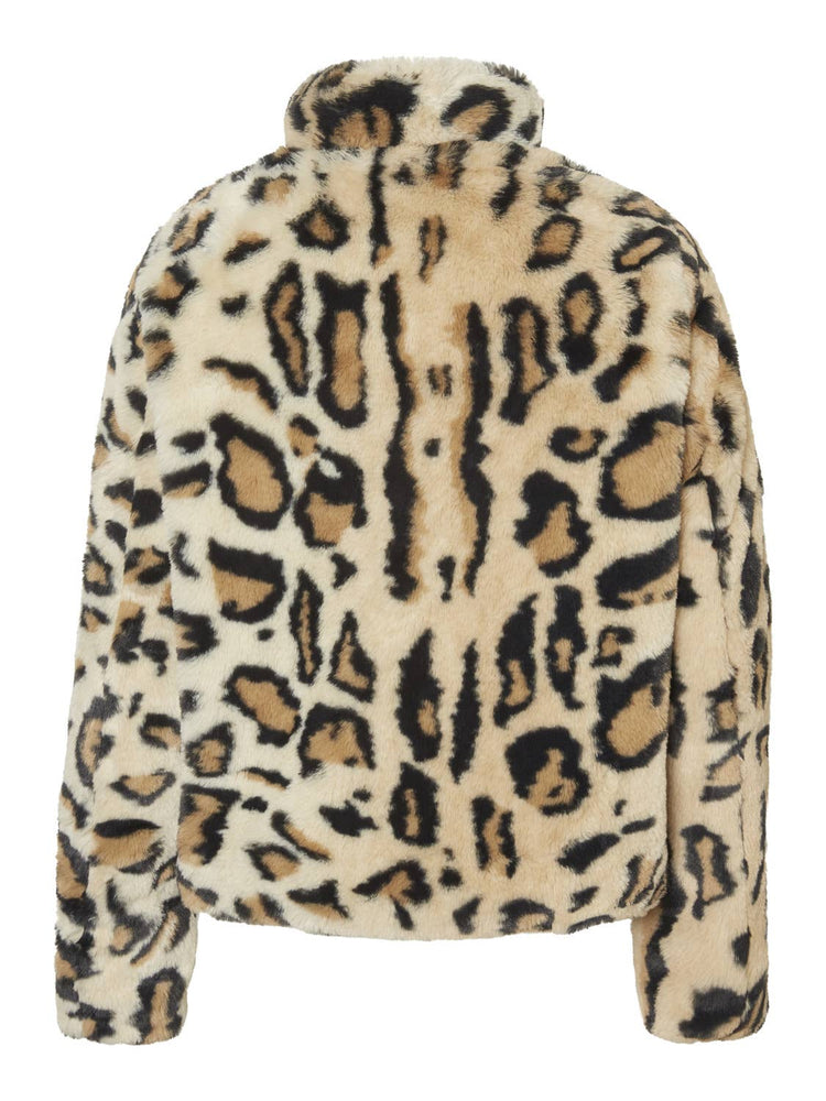 Short Fur Leopard Jacket