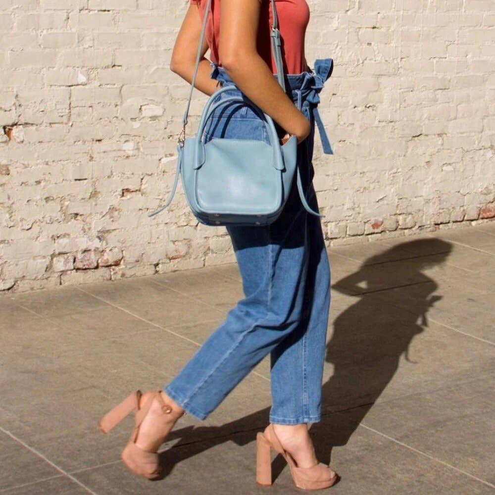 Carter Blue Top Handle Bag