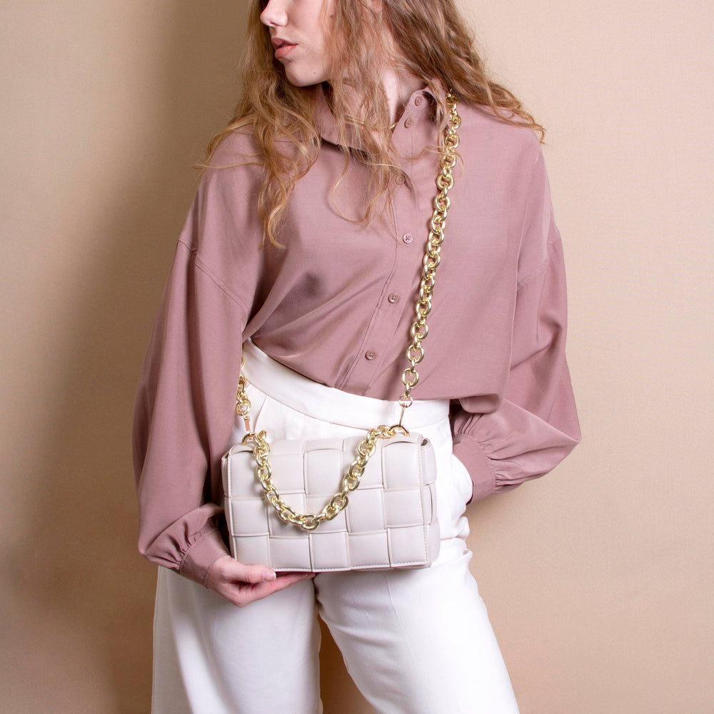 Anya Vegan Shoulder Bag in Ivory