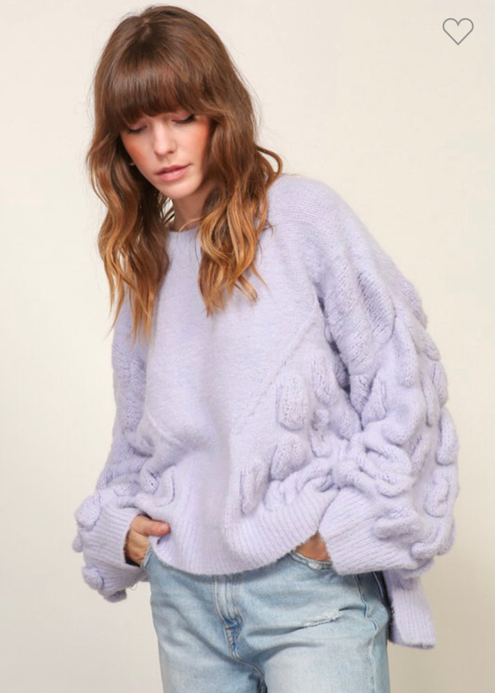 Lilac Oversized Textured Sweater