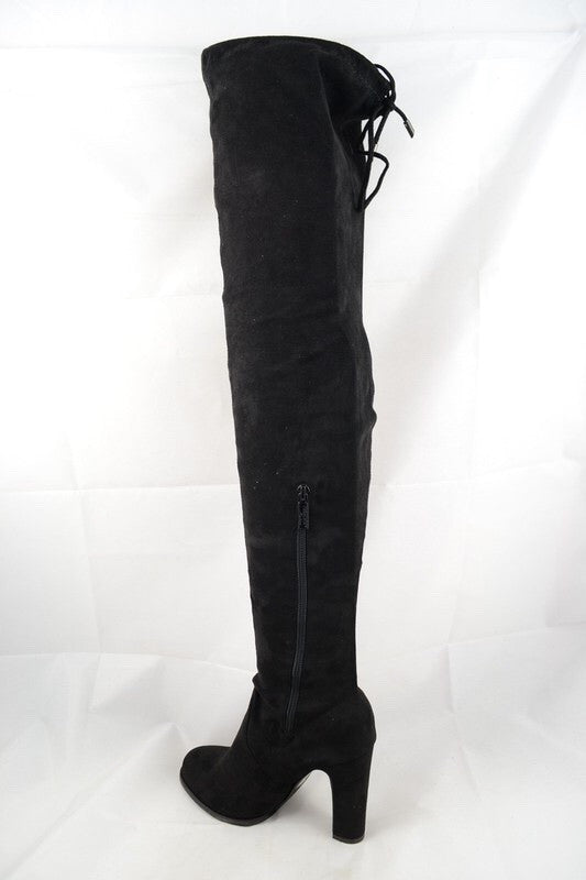 Over the Knee Black Boot