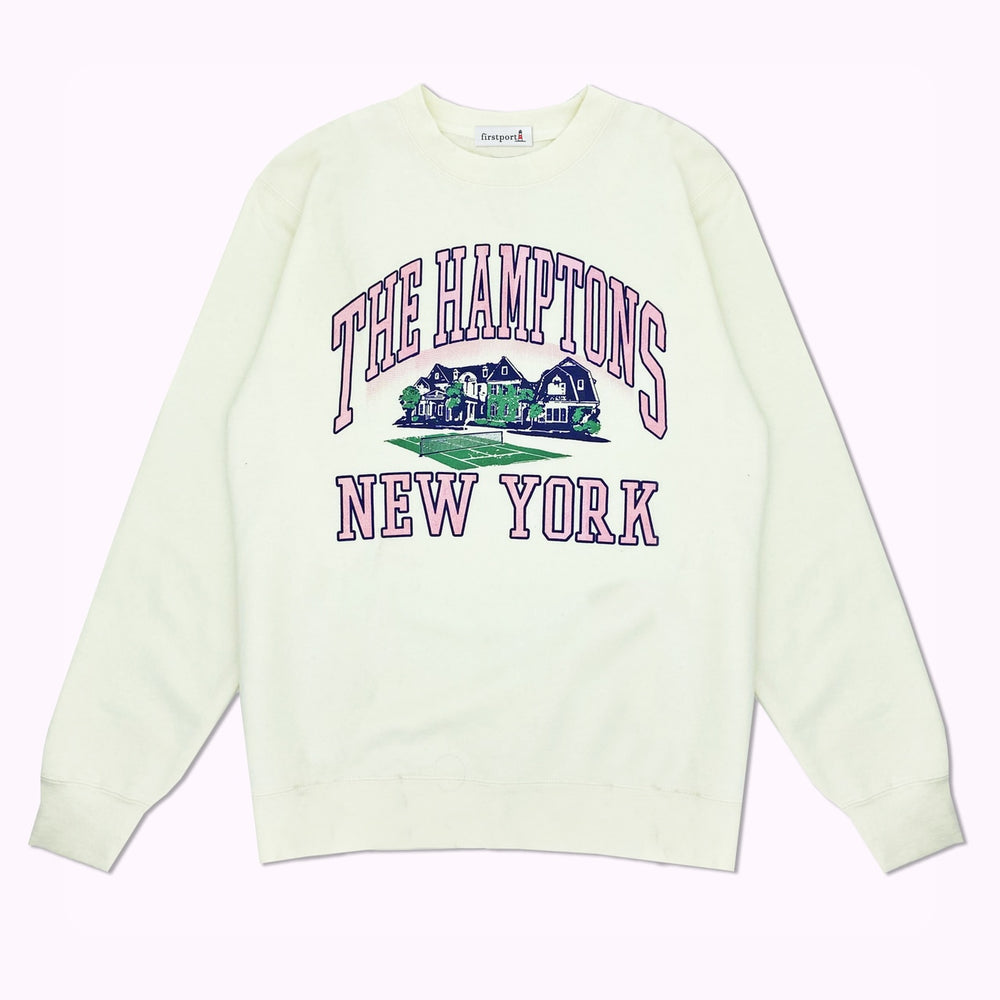 The Hamptons New York Crewneck Sweatshirt Artist Series - Light Ivory