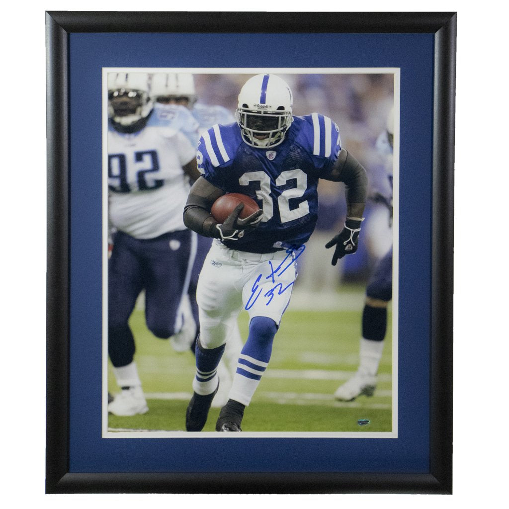 Edgerrin James Indianapolis Colts 'Running against Titans' Autographed Framed 16x20