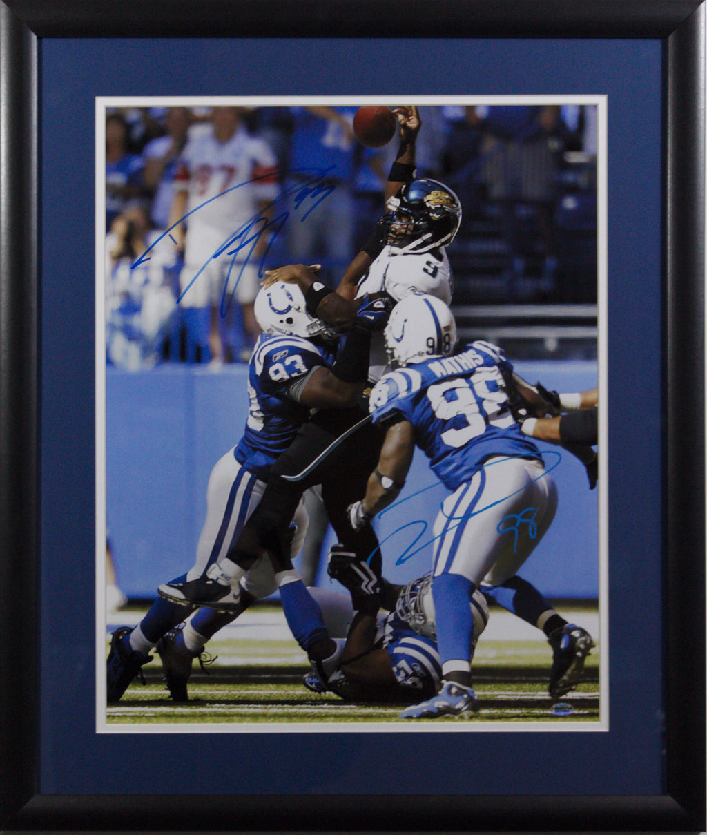 Robert Mathis Autographed 16x20 W/ Dwight Freeney