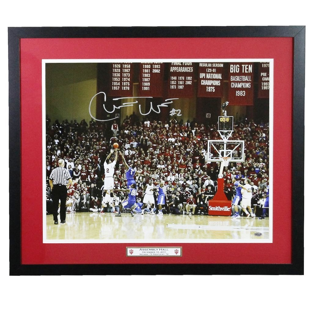 Christian Watford Indiana Hoosiers Autographed Framed 16x20