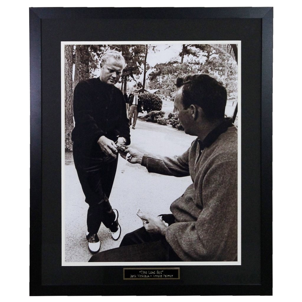 Arnold Palmer and Jack Nicklaus 'The Bet' Framed 16x20