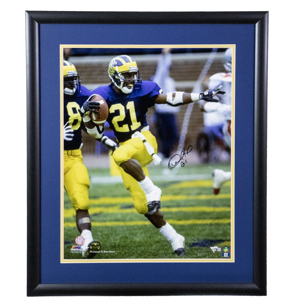 Desmond Howard Michigan Wolverines 'Heisman Pose' Autographed Framed 16x20