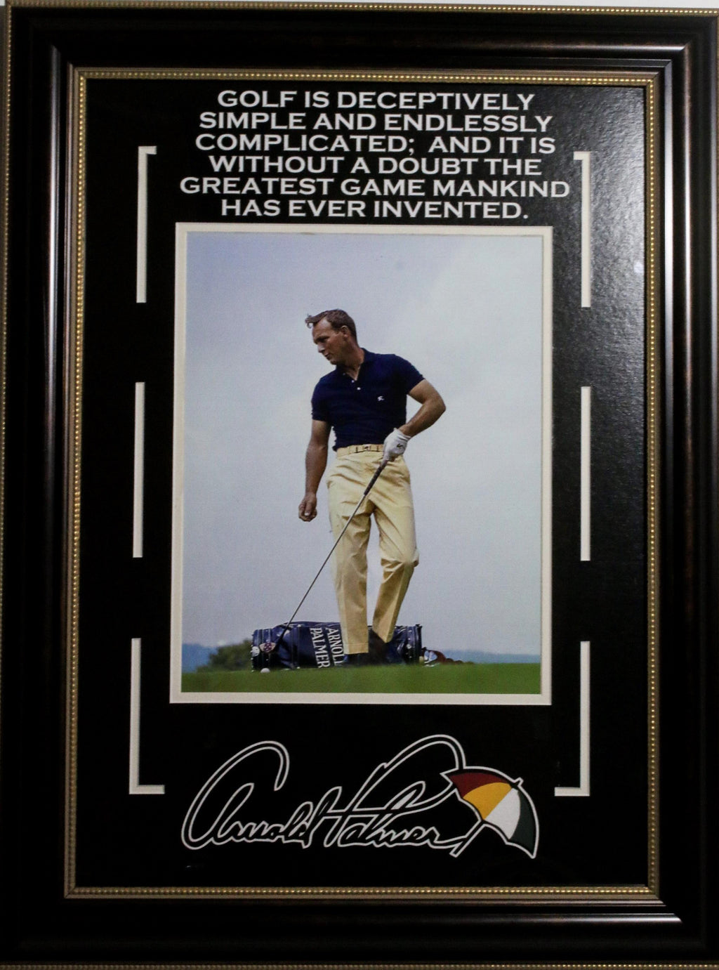 Arnold Palmer Framed Quote.