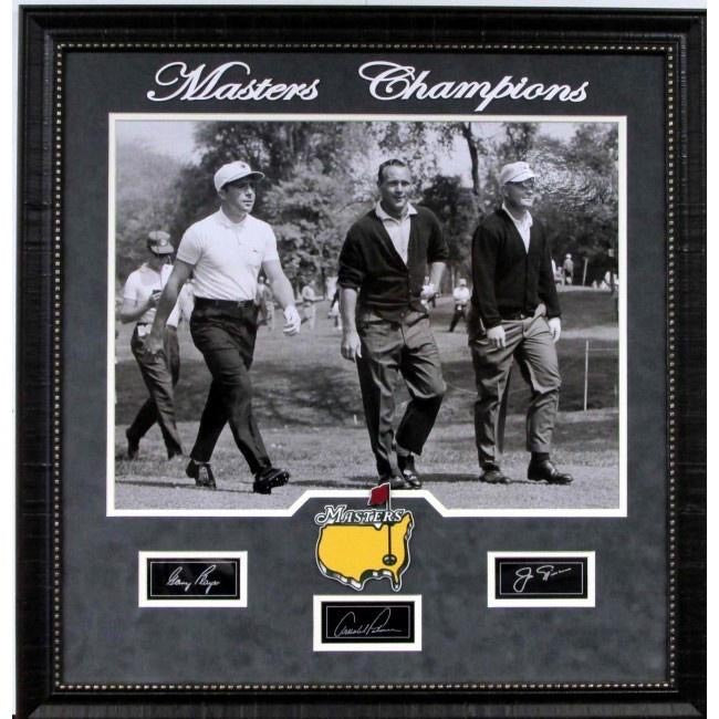 Gary Player, Arnold Palmer, and Jack Nicklaus Masters Champions Replica Signatures Framed Display