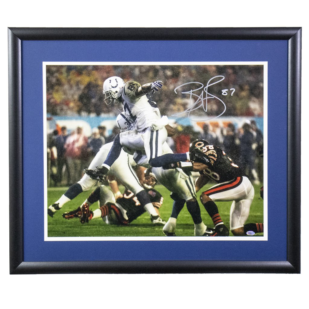 Reggie Wayne Indianapolis Colts 'Super Bowl Hurdle' Autographed Framed 16x20