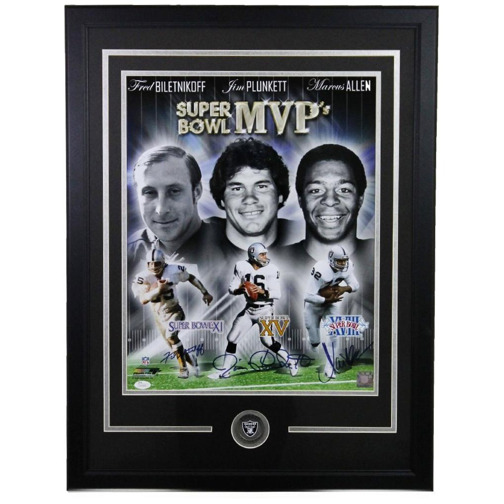 Oakland Raiders Super Bowl MVP Framed 16x20