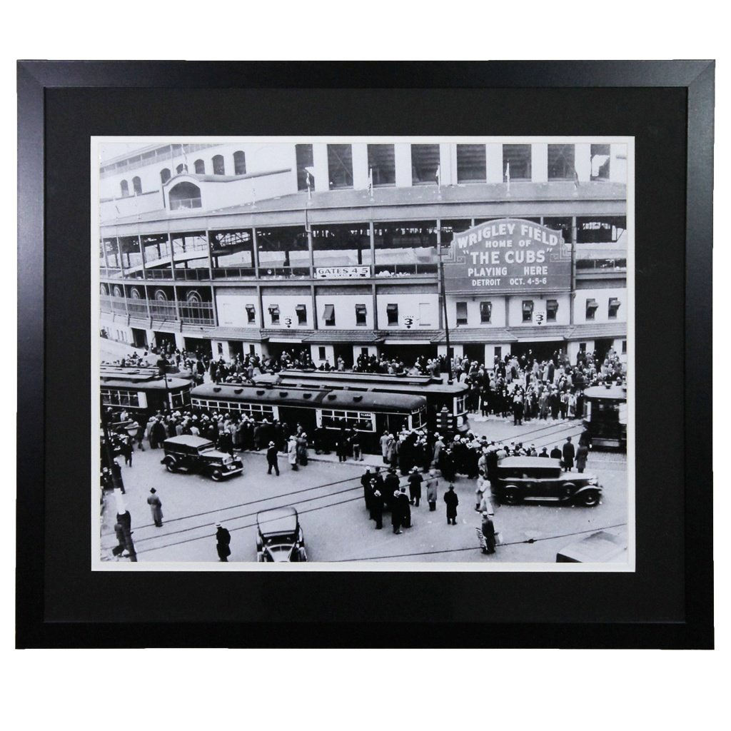 Wrigley Field 'Black and White' Framed 16x20