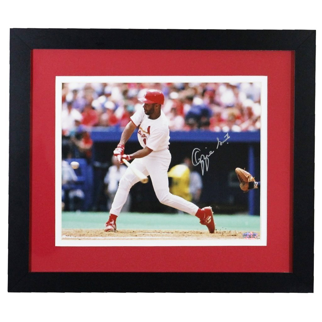 Ozzie Smith St. Louis Cardinals 'Check Swing' Autographed Framed 8x10
