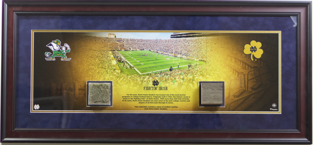 Notre Dame Fighting Irish Bench And Grass Display