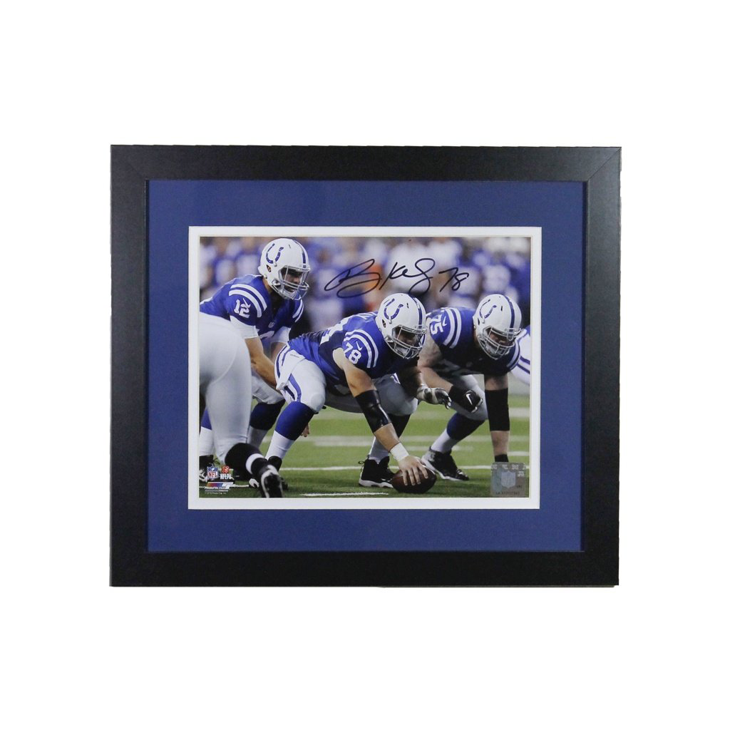 Ryan Kelly Indianapolis Colts 'Snapping' Autographed Framed 8x10