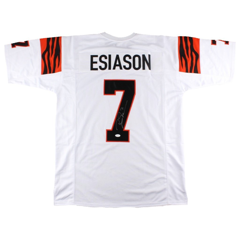 Boomer Esiason Cincinnati Bengals White Autographed Jersey