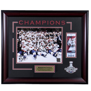 Washington Capitals 2018 Stanley Cup Champions Replica Ticket Framed Display