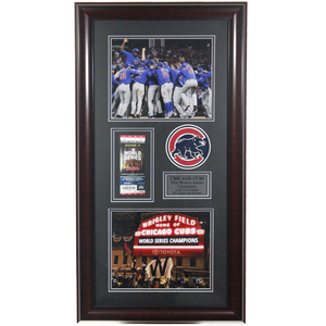 Chicago Cubs 2016 World Series Champions Ticket Framed Display