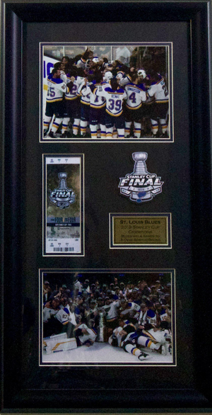 St. Louis Blues 2019 Stanley Cup Champions Ticket Display