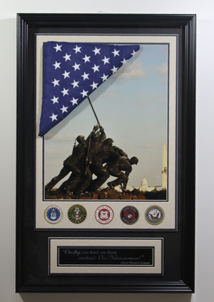 Iwo Jima Flag Shadowbox