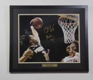 Carsen Edwards Autographed Dunk With Inscription BOILER UP
