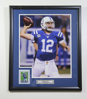 Andrew Luck Indianapolis Colts 'Throwing' Framed Rookie Card Display