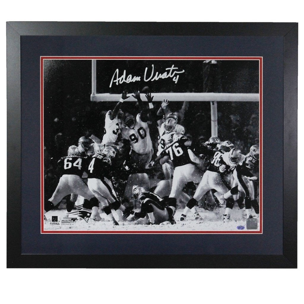 Adam Vinatieri New England Patriots 'Tuck Rule Game' Autographed Framed 16x20