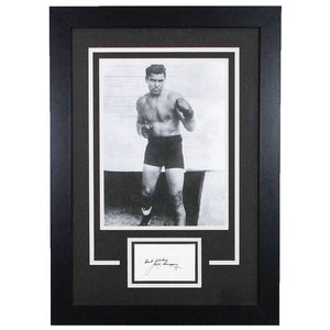Jack Dempsey Cut Signature Framed Display