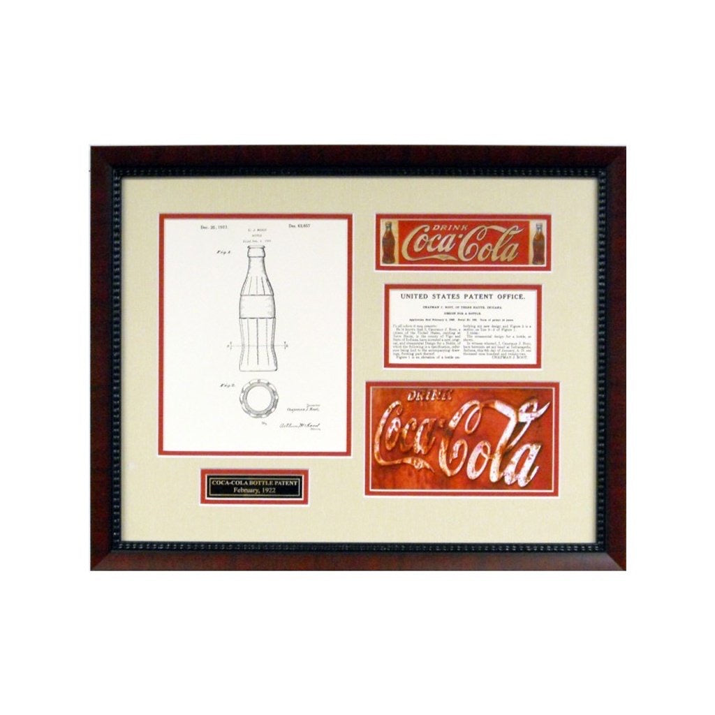 Coca Cola Replica Patent Framed Display