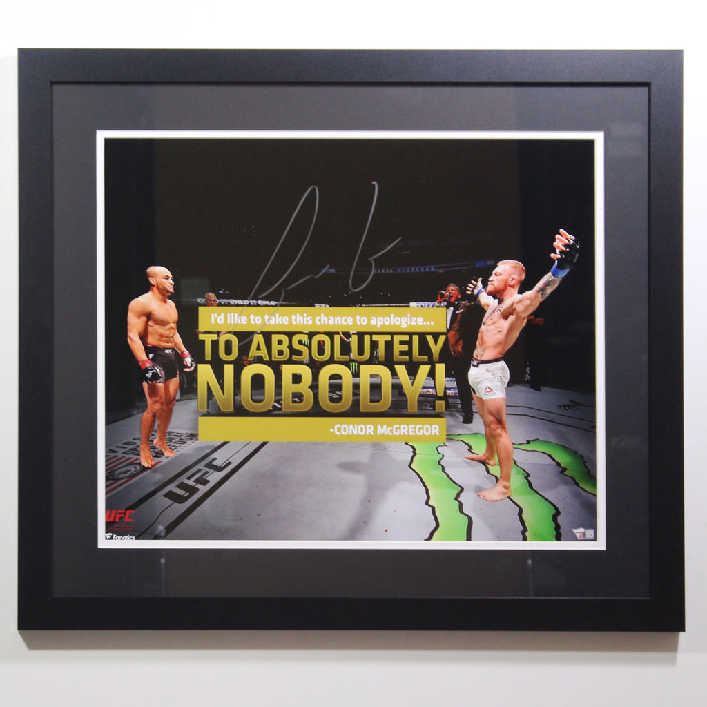 Conor McGregor Autographed Quote Display