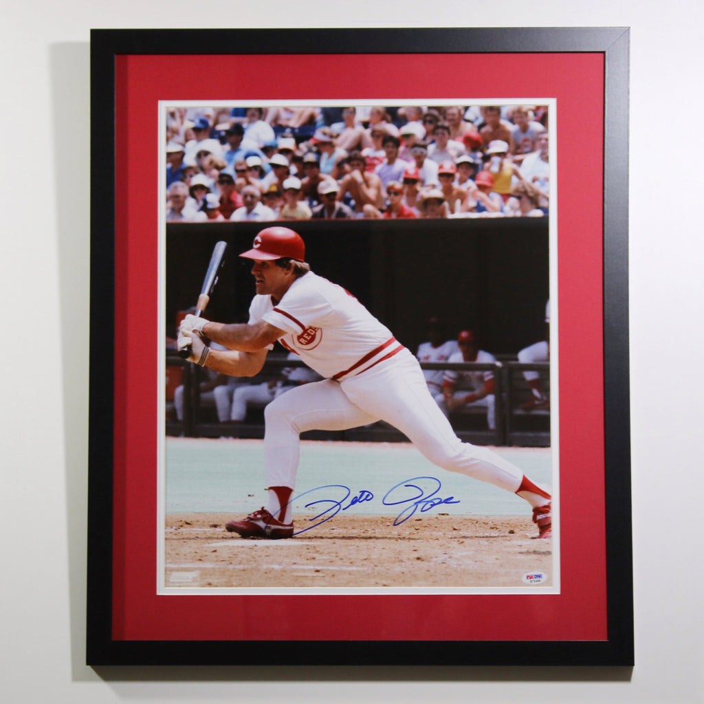 Pete Rose 'Batting' Autographed 16x20