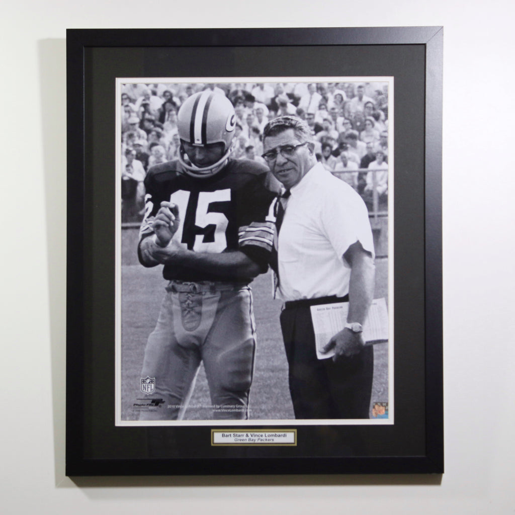 Bart Starr & Vince Lombardi Green Bay Packers 16x20 Games Display