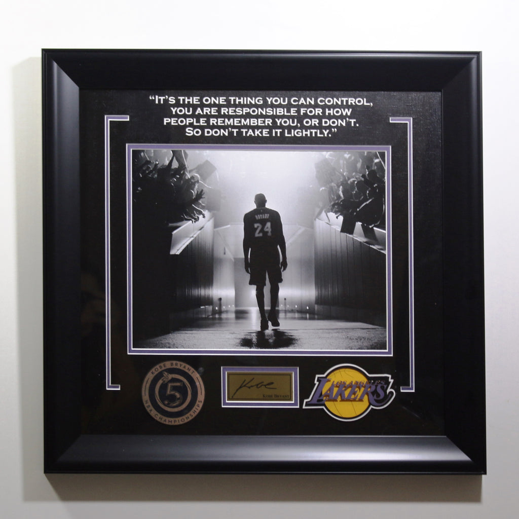 Kobe Bryant Framed Quote Display