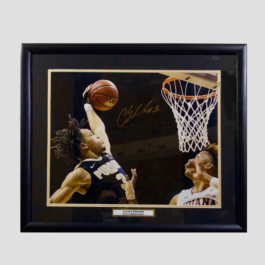 "Carsen Edwards ""Dunk""  No Inscription 16x20"