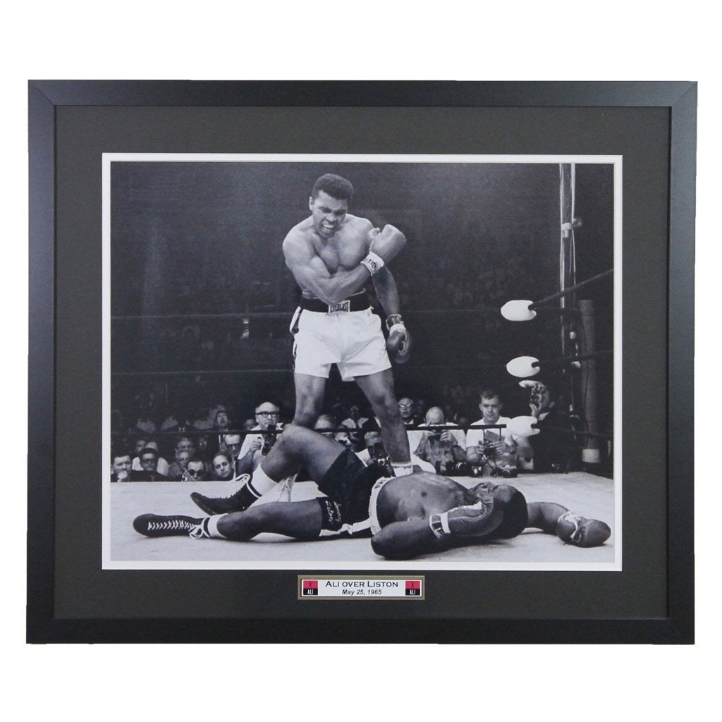 Muhammad Ali Over Sonny Liston  Framed 16x20