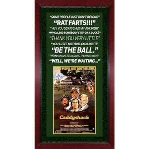 Michael O'Keefe and Cindy Morgan Caddyshack Movie Quotes Framed Display