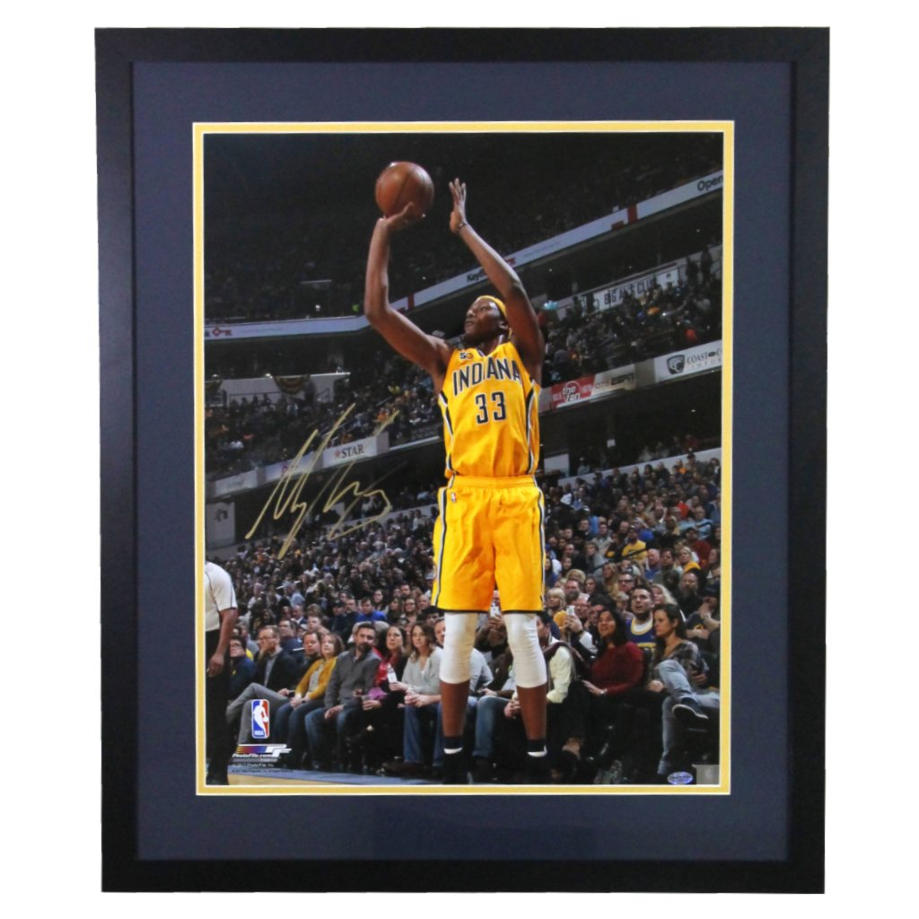 Myles Turner Indiana Pacers 'Low Angle Shot' Autographed Framed 8x10