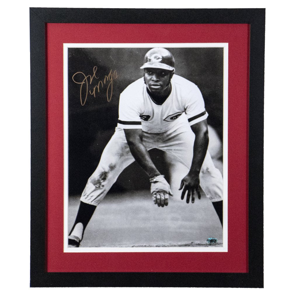 Joe Morgan Cincinnati Reds 'Attempting to Steal' Autographed Framed 11x14