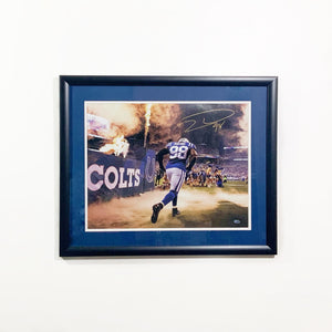 "Robert Mathis Autographed Framed 16x20 ""Flames"""